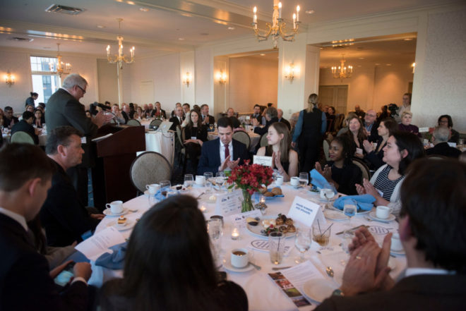 2018 Wisconsin Watchdog Awards held at the Madison Club on April 19, 2018. - Lauren Justice/for the Wisconsin Center for Investigative Journalism
